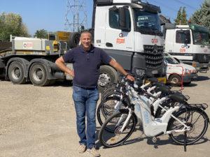 Michel Heintz président de Zénith union d'entreprises et ses vélos à hydrogène